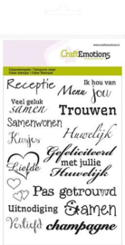 craftemotions clear stamp huwelijk  (NL) - A6