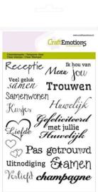 hobby en creatief stempels craftemotions clear stamp huwelijk  (NL) - A6