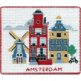 Amsterdam - Borduurpakket 10 x 8 cm
