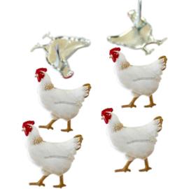 Eyelet outlet brads kippen zakje 12 stuks