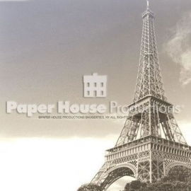 Parijs Eiffeltoren Close Up - 30.5 x 30.5 centimeter