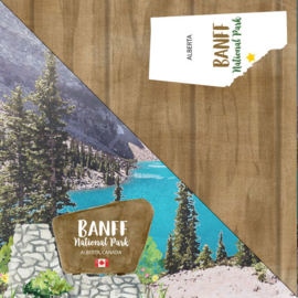 Banff National Park - Alberta Canada - dubbelzijdig scrapbook papier