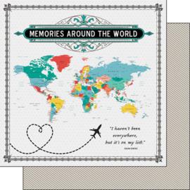 Memories around the world - Wereldkaart papier