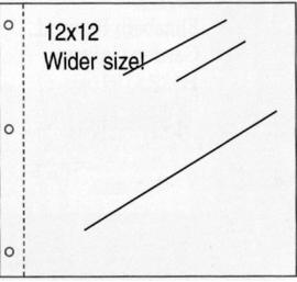 10 Insteekhoezen met 3 gaatjes voor 12 inch scrapbook layouts