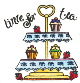 Time for tea / Theetijd - clear stamps