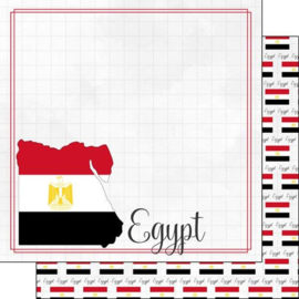 Egypt - Adventure Border - dubbelzijdig scrapbook papier