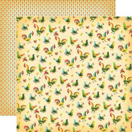 scrapbook papier set country kitchen boerderij  12 x 12 inch 13 delig