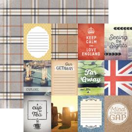 Engeland tags scrapbookpapier