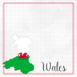 Wales Adventure border - dubbelzijdig scrapbook papier