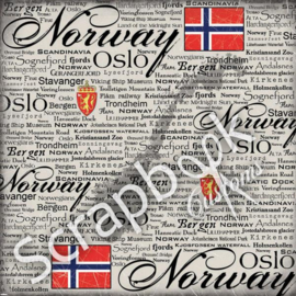 Norway - Scratchy - scrapbook papier