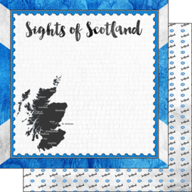 Sights of Scotland - dubbelzijdig scrapbook papier