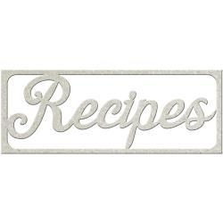 Recepten hobby decoratie - Fabscraps recipes die cut 9.7x3.7 cm