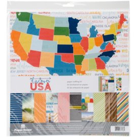 "USA Paper Crafting Kit 12""X12"" USA"