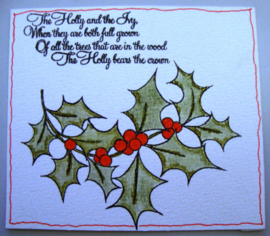 Kerst stempels - The Holly & The Ivy