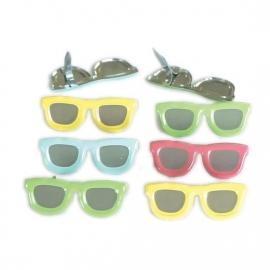 Pastel zonnebril 4 tinten pastel splitpen 12 stuks