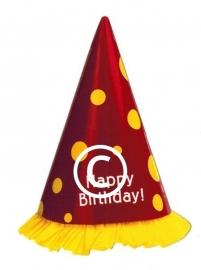 Verjaardag feesthoedje - stans decoratie - 6,5x9