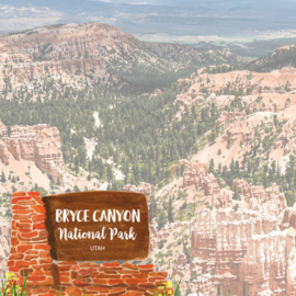 Bryce National Park / Utah - scrapbook customs - 12x12 inch