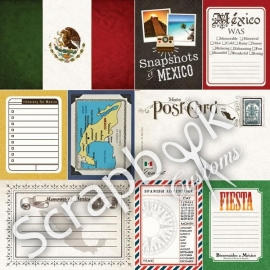 Mexico Journal papier - 30.5 x 30.5 cm