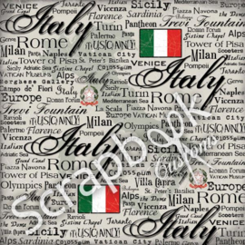 Italy Scratchy - scrapbook papier 12x12 inch