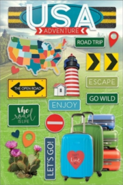 2D travel decoratie stickers