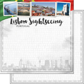 Lisbon Sightseeing - Lissabon/Portugal - 30.5 x 30.5 cm scrapbook papier