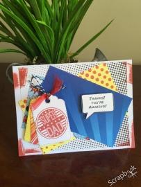 Superhero - papier dad journal - 30.5 x 30.5 centimeter