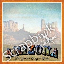 Arizona scrapbook papier - 12 x 12 inch - scrapbook customs