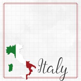 Italy Adventure border - dubbelzijdig scrapbook papier