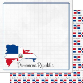 Dominican Republic - Adventure border - dubbelzijdig papier - 30.5 x 30.5 cm