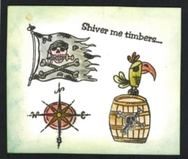 Shivers me Timbers - Piraten - clear stempelset