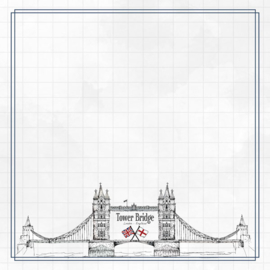 Tower Bridge Adventure  - dubbelzijdig scrapbook papier