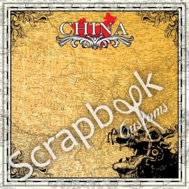 China - scrapbookpapier - 30.5 x 30.5 centimeter