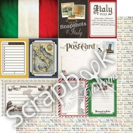 Snapshots of Italy - scrapbookpapier - 30.5x30.5 cm