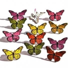Eyelet Outlet Shape Brads, Butterflies
