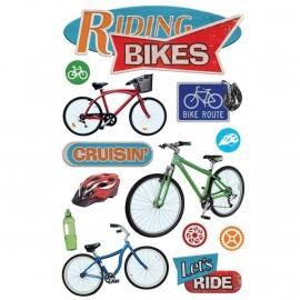 Lekker rijden op de fiets - 3D stickers