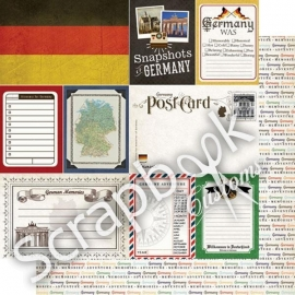 Duitsland travel journaal - papier 30 x 30 - scrapbook customs
