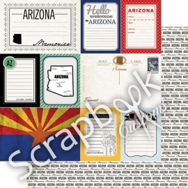 Arizona - Vintage Journal - 12x12 scrapbookpapier