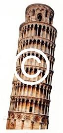 Toren van Pisa - stans decoratie - 5x10 cm