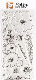 Garden Flowers - stempels Hobby Art