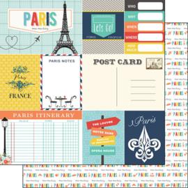 Paris Memories Journal - dubbelzijdig scrapbook papier