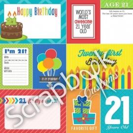 21 Today! - scrapbookpapier - 30.5x30.5 cm