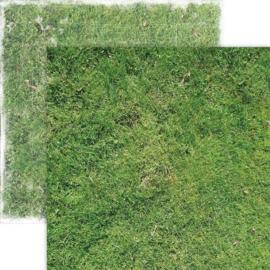 Grasveld  - dubbelzijdig scrapbook papier 30,5 x 30,5 cm