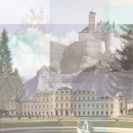 Oostenrijk Collage afbeeldingen papier 30.5 x 30.5 cm