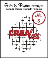 Crealies Clearstamp Bits en Pieces no. 08 Broken mesh