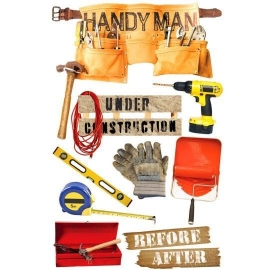 Handyman - 3D Stickers