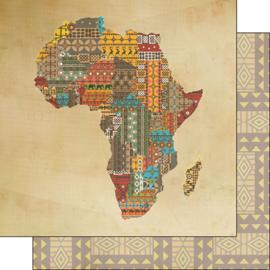Africa - Shape Safari papier - 30.5x30.5 cm