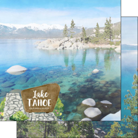 Lake Tahoe California/Nevada - 12x12 scrapbookpapier