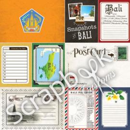 Bali - Journal - dubbelzijdig scrapbooking papier - 12 x 12 inch