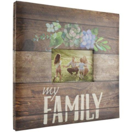 fotoalbum 30x30 voor scrapbooking My Family inclusief 10 insteekhoezen