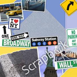 New York Street - scrapbook papers